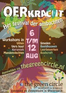 Poster Oerkracht, Het festival der ambachten The Green Circle - Workshops in de Natuur